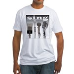 4 Microphones with Sing Fitted T-Shirt