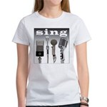 4 Microphones with Sing Women's T-Shirt