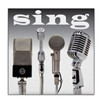 4 Microphones with Sing Tile Coaster