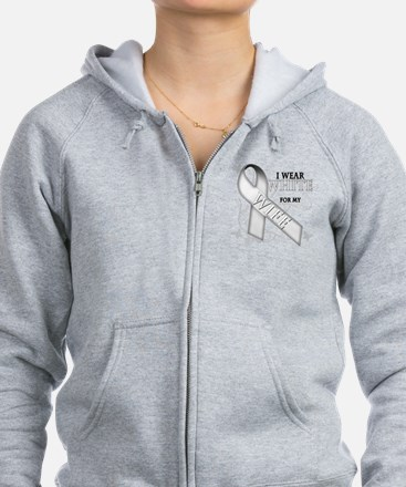 I Wear White for my Wife Zip Hoodie