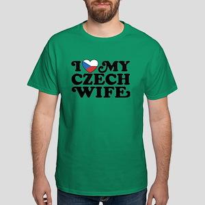 I Love My Czech Wife Dark T-Shirt