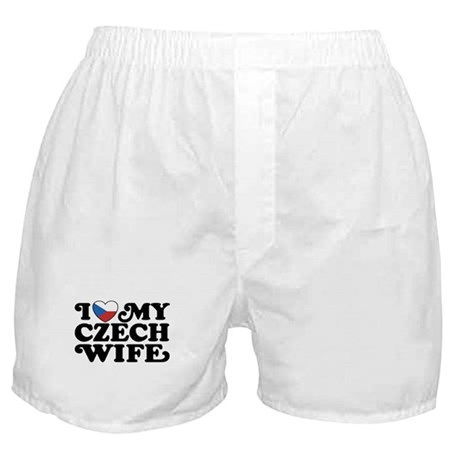 I Love My Czech Wife Boxer Shorts