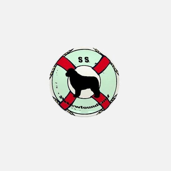 Newfie The Sailor Dog Mini Button