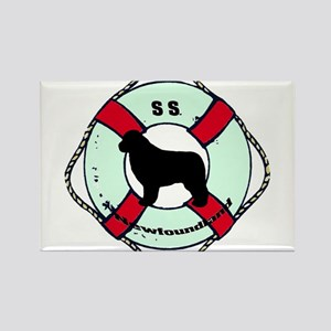 Newfie The Sailor Dog Rectangle Magnet