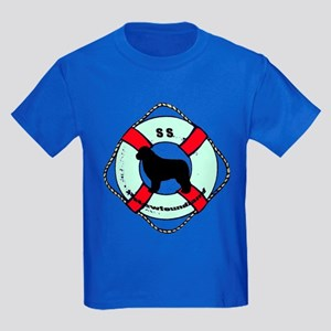 Newfie The Sailor Dog Kids Dark T-Shirt