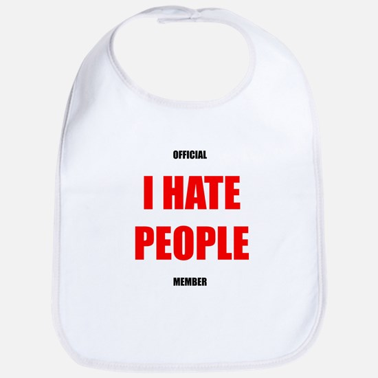 Official I Hate People Bib