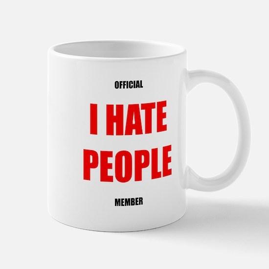 Official I Hate People member mug