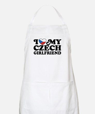 I Love My Czech Girlfriend Apron