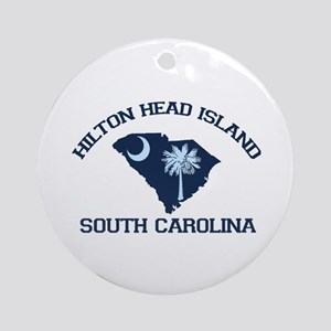 Hilton Head Island - Map Design Ornament (Round)