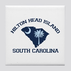 Hilton Head Island - Map Design Tile Coaster