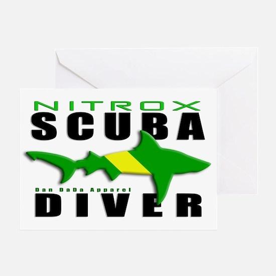 Scuba Diver: Nitrox Shark Greeting Card