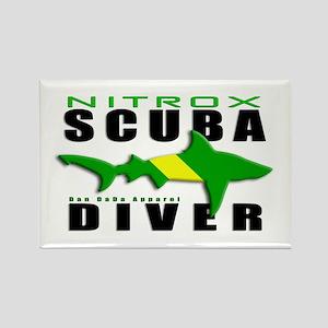 Scuba Diver: Nitrox Shark Rectangle Magnet