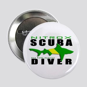"Scuba Diver: Nitrox Shark 2.25"" Button"
