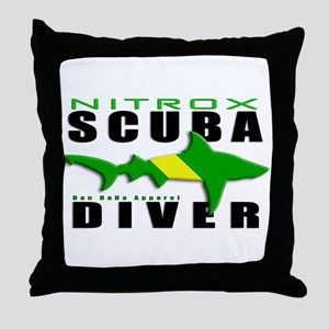 Scuba Diver: Nitrox Shark Throw Pillow