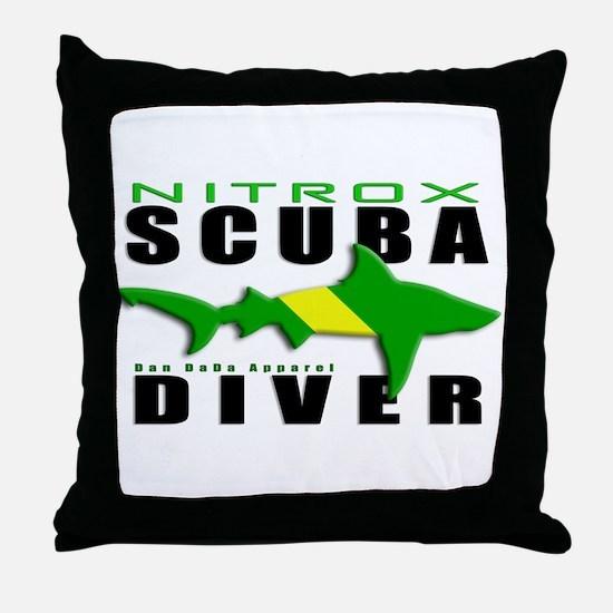Scuba Diver: Nitrox Shark Throw Pillow