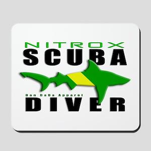 Scuba Diver: Nitrox Shark Mousepad