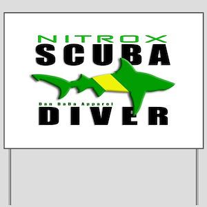 Scuba Diver: Nitrox Shark Yard Sign