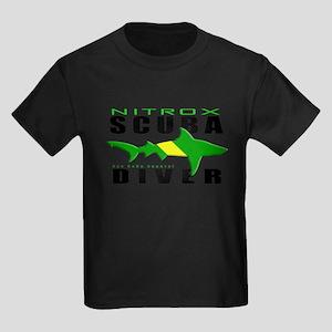 Scuba Diver: Nitrox Shark Kids Dark T-Shirt