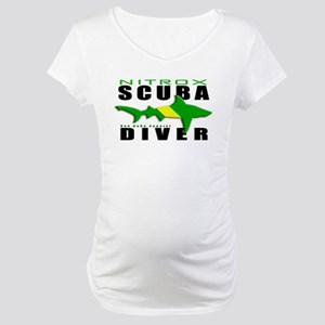 Scuba Diver: Nitrox Shark Maternity T-Shirt