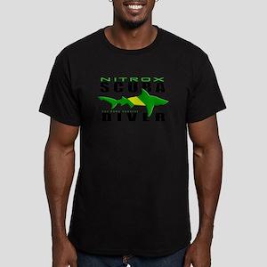 Scuba Diver: Nitrox Shark Men's Fitted T-Shirt (da