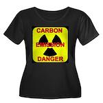 CARBON EMISSION DANGER Women's Plus Size Scoop Nec