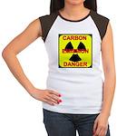CARBON EMISSION DANGER Women's Cap Sleeve T-Shirt