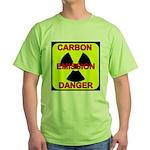 CARBON EMISSION DANGER Green T-Shirt