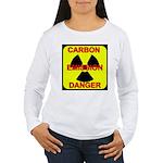 CARBON EMISSION DANGER Women's Long Sleeve T-Shirt