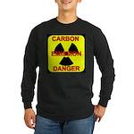 CARBON EMISSION DANGER Long Sleeve Dark T-Shirt