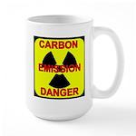CARBON EMISSION DANGER Large Mug