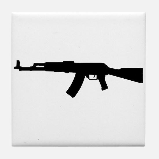 Rifle AK 47 Tile Coaster