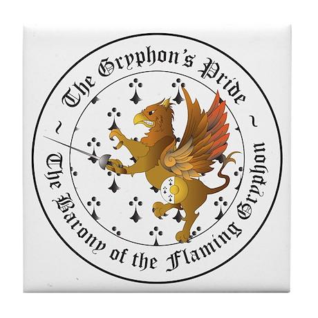 Gryphon's Pride Rapier Tile Coaster