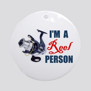 I REELY LIKE TO FISH ! - Ornament (Round)