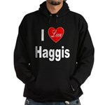 I Love Haggis (Front) Hoodie (dark)