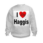 I Love Haggis (Front) Kids Sweatshirt