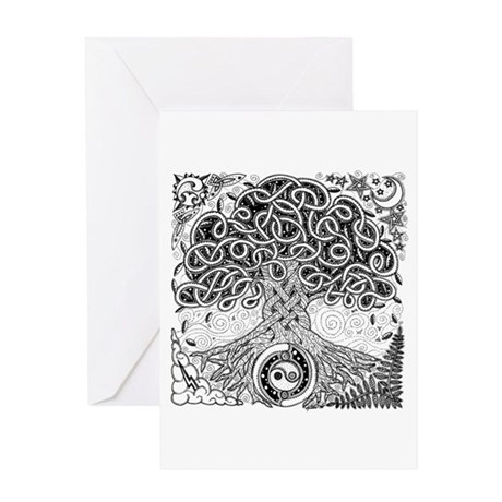 Celtic Tree of Life Ink Greeting Card