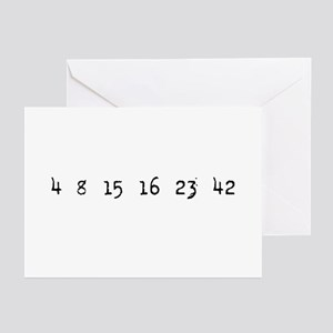 4815162342 LOST Numbers Greeting Cards (Pk of 10)