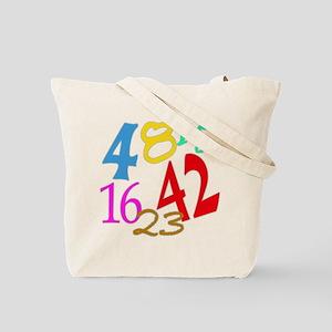 Lost Numbers 4 8 15 16 23 42 Tote Bag