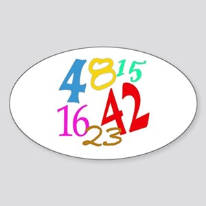 Lost Numbers 4 8 15 16 23 42 Oval Sticker
