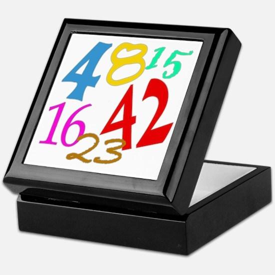Lost Numbers 4 8 15 16 23 42 Keepsake Box