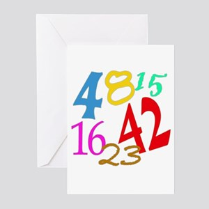 Lost Numbers 4 8 15 16 23 42 Greeting Cards (Pk of