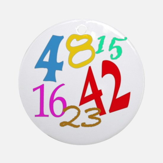 Lost Numbers 4 8 15 16 23 42 Ornament (Round)