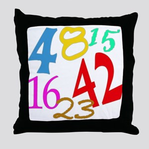 Lost Numbers 4 8 15 16 23 42 Throw Pillow