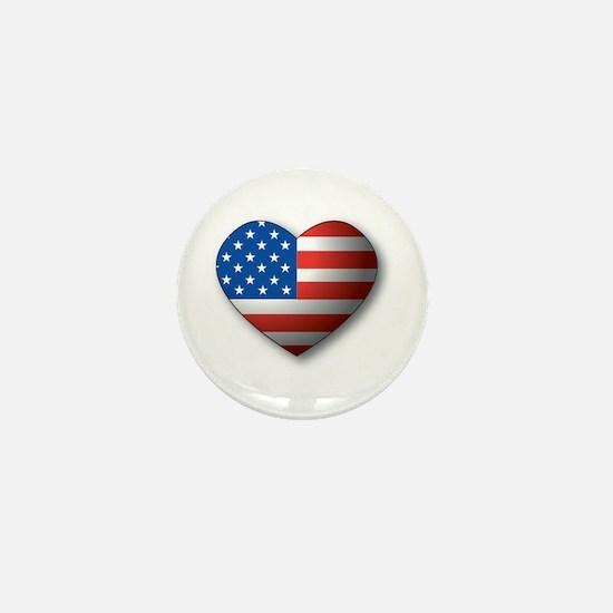 Heart Flag Mini Button