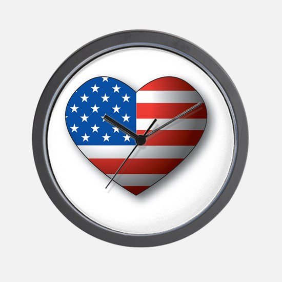 Heart Flag Wall Clock