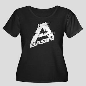 A-Basin Design For Dark Women's Plus Size Scoop Ne