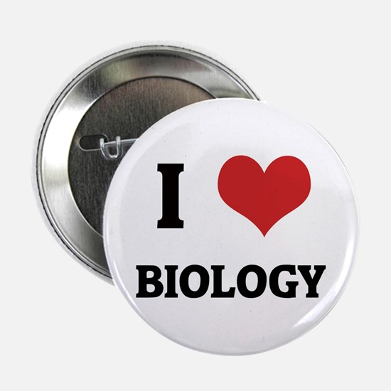 I Love Biology Button