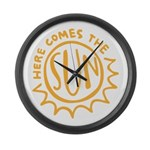 Here comes the sun Large Wall Clock
