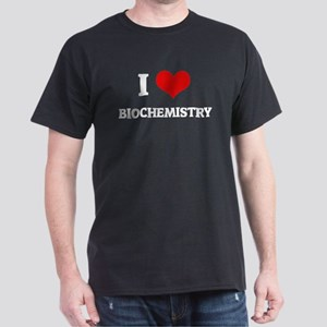 I Love Biochemistry Black T-Shirt