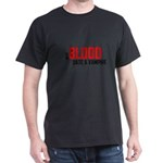 Give Blood Date a Vampire Dark T-Shirt